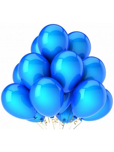 10 шт голубых воздушных шаров металлик