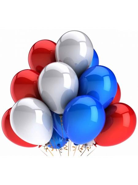 Воздушные шары Триколор на День России