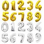 Фольгированные воздушные шары Цифры на День Рождения