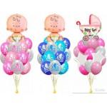 Украшение и шарики на Выписку из Роддома для новорожденного мальчика или девочки