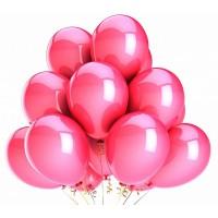 20 шт розовых воздушных шаров металлик