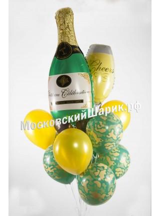 """Букет на 23 февраля """"Шампанское"""""""