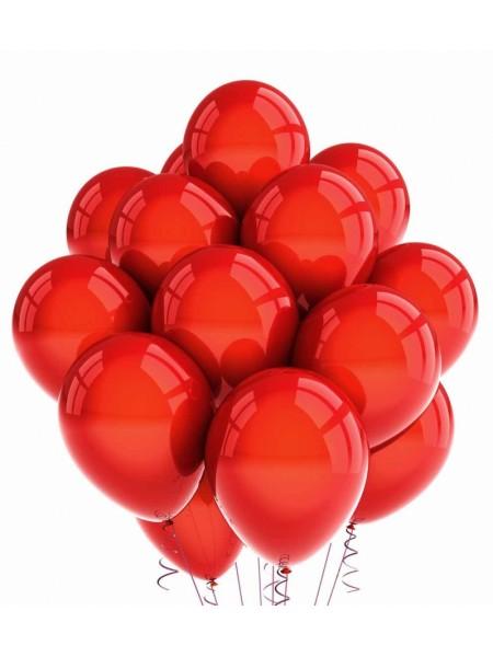 30 шт красных воздушных шаров металлик