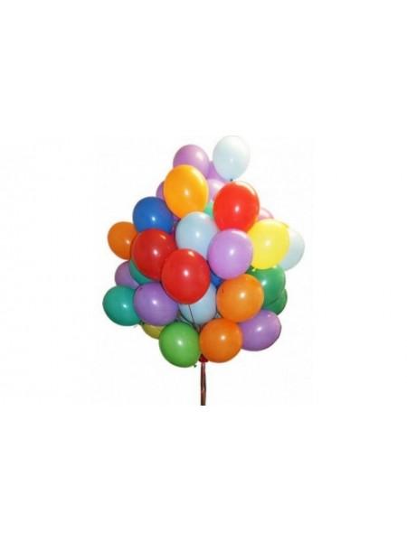 30 шт воздушных шаров ассорти