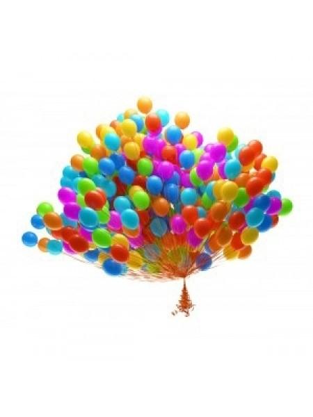 100 шт воздушных шаров ассорти
