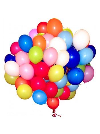 50 шт воздушных шаров ассорти