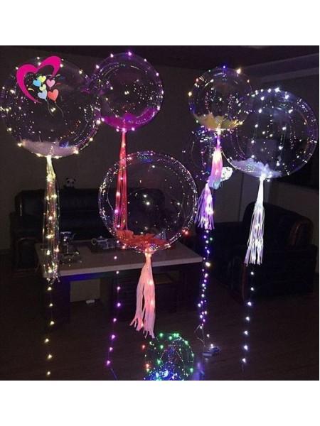 Bubbles со Светодиодной нитью и Перьями 1шт