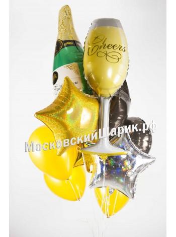 """Букет воздушных шаров """"Шампанское"""""""