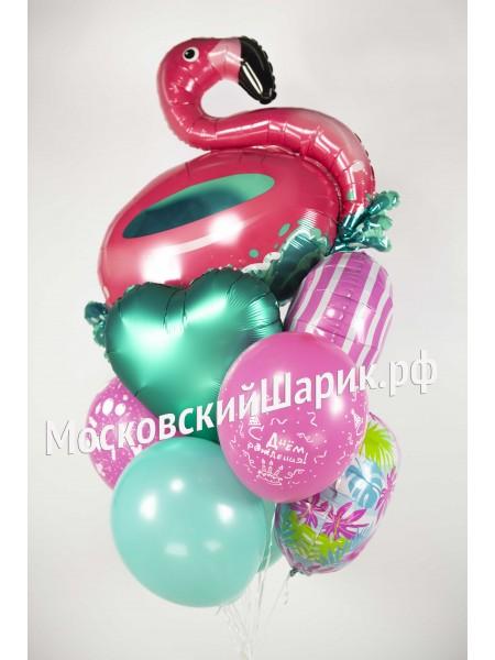 Букет шаров Фламинго