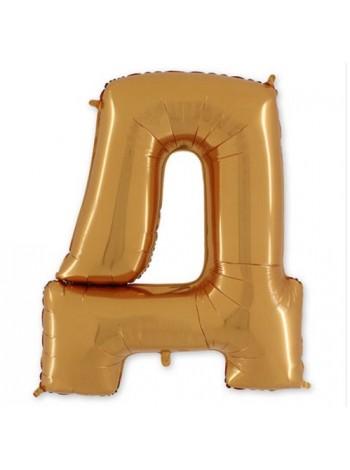 "Буква Д Gold 40"" - 101 см"