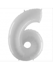 Шар цифра белая шесть