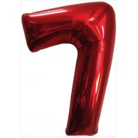 Красная шар Цифра 7/91 см с гелием