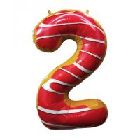 Шар цифра пончик 2 с гелием