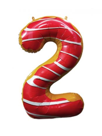 Шар цифра пончик два