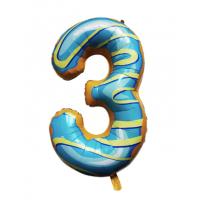 Шар цифра пончик 3 с гелием