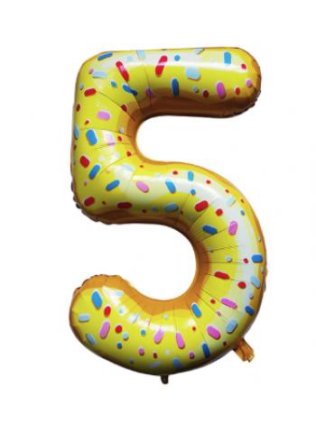 Шар цифра пончик пять