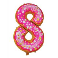 Шар цифра пончик 8 с гелием