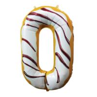 Шар цифра пончик 0 с гелием