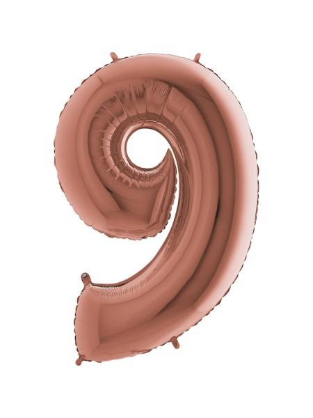 Шар Розовое золото 9/91 см с гелием