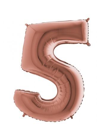 Розовое золото цифра 5