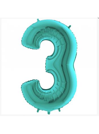 Цифра Три с гелием ТИФФАНИ