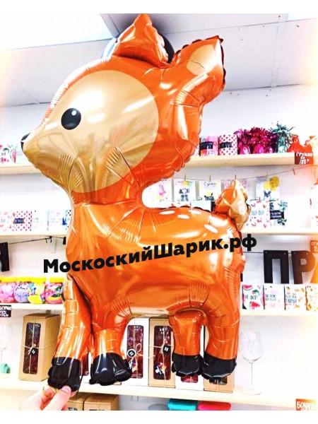 "Шар Фигура ""Олененок"" с гелием 1 шт"