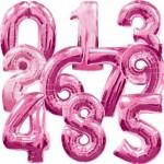 Розовые шары Цифры