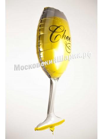 Бокал шампанского с гелием