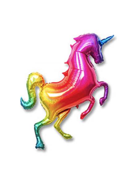Радужный Единорог с гелием 107 см