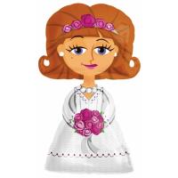 Ходячая фигура Невеста с гелием