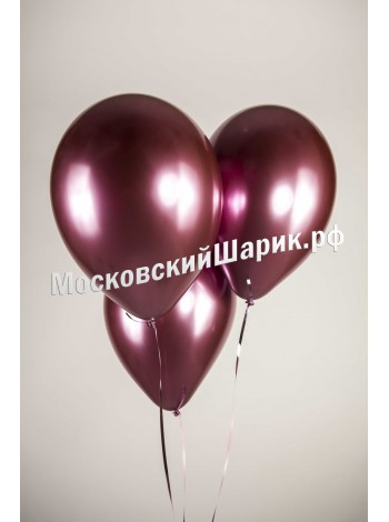 Воздушные шары хром Вишня