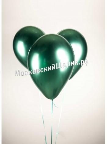 Зеленые Воздушные шары хром