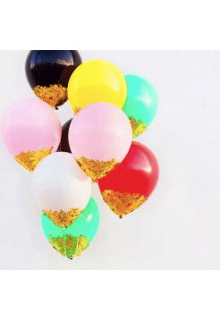 Ассорти с золотым конфетти снаружи 30 см, 1 шт