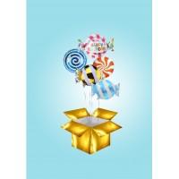 Коробка-сюрприз с фольгированными конфетами