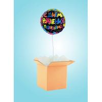 Коробка-Сюрприз с кругом с Днем Рождения