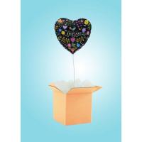 Коробка-Сюрприз с черным Сердцем