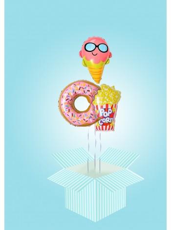 коробка сюрприз с шар пончиком