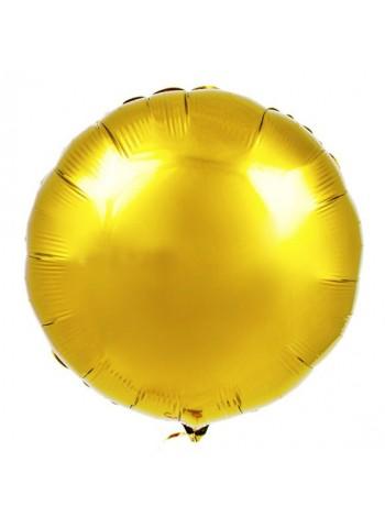 Круг золотой с гелием 46 см