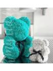 Медведь из роз бирюзовый 40 см