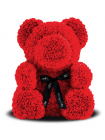 Красный медведь из роз 70 см