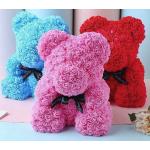 Медведь из роз фоамирана