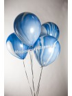 Мраморный воздушный Шар с гелием Синий агат