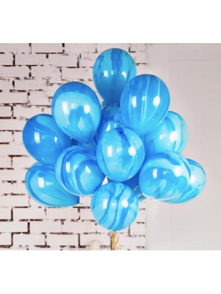 Мраморные голубые Суперагаты 1 шт