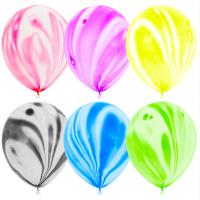 Мраморные воздушные шары с гелием Ассорти 30 см - 6 Штук