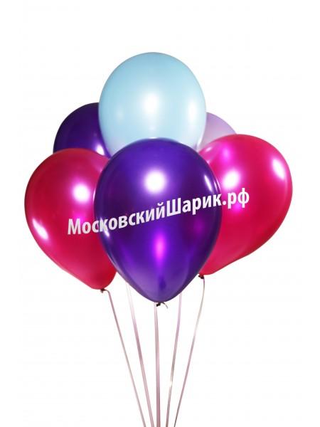 Под Потолок Металлик Фукси-Фиолетово-Голубой 35 см