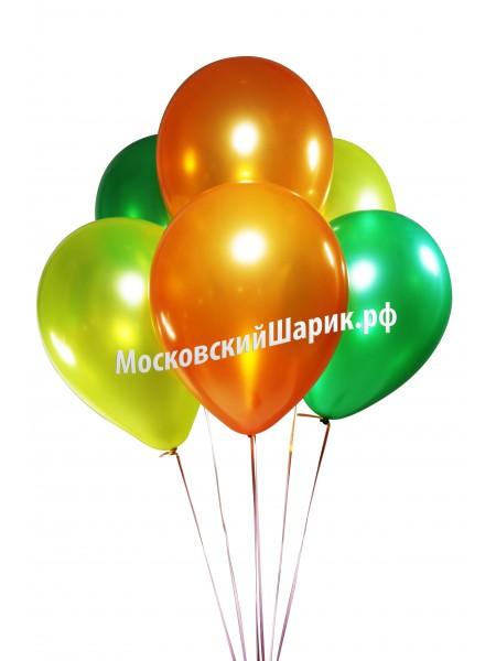 Металлик Оранжевые-Желтые-Зеленые 35 см