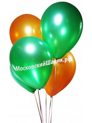 Под Потолок Металлик Оранжевые-Зеленые 35 см