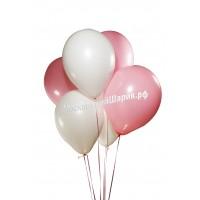 Пастель Бело-Розовые 35 см