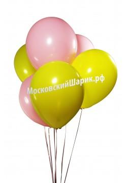 Пастель Желто-Розовые 35 см