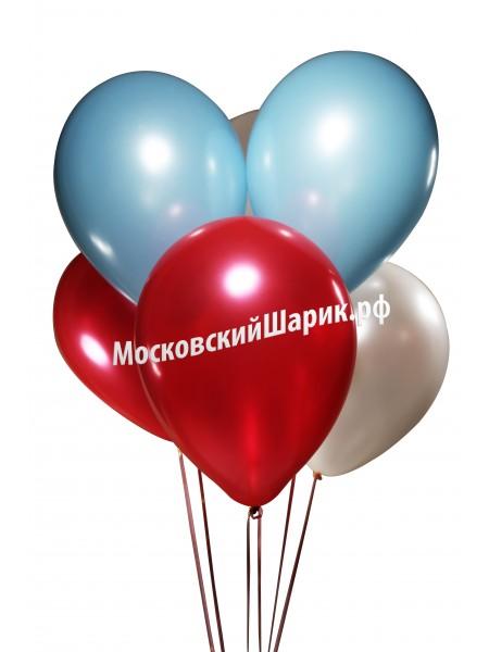 Шары Бело-Голубо-Красные 1 шт